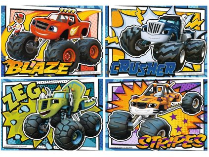 Puzzle Blaze a přátelé 4v1