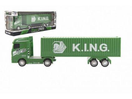 Kamion s kontejnerem na setrvačník na baterie se světlem se zvukem