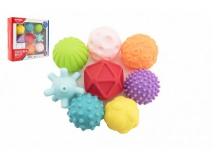 Sada míčků 9ks s texturou gumové