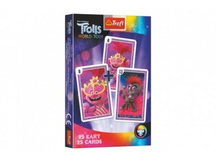Černý Petr Trolls/Trollové společenská hra - karty v krabičce