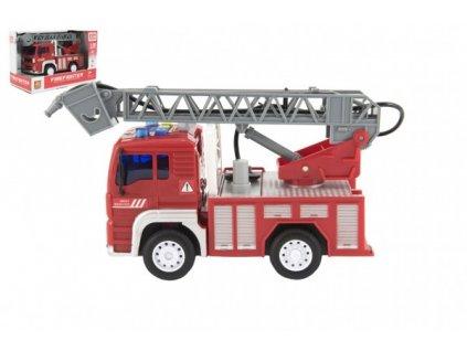 Auto hasiči stříkací vodu na setrvačník na bat. se zvukem se světlem