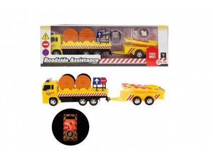 Auto nákladní silniční pomoc se svítícím značením s doplňky na baterie