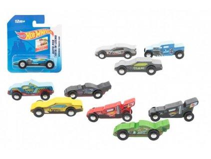 Auto/Formule Hot Wheels dřevěné mix druhů