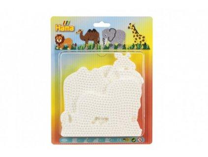 Podložka na zažehlovací korálky Hama slon,žirafa,lev,velbloud 4ks