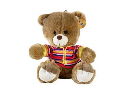 Plyšový medvídek s barevnou košilí