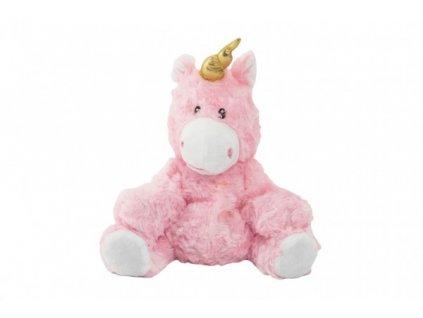 Plyšový jednorožec/kůň růžový nahřívací