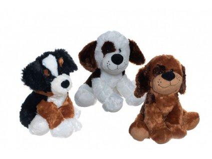 Plyšový pes/Pejsek sedící 3 druhy