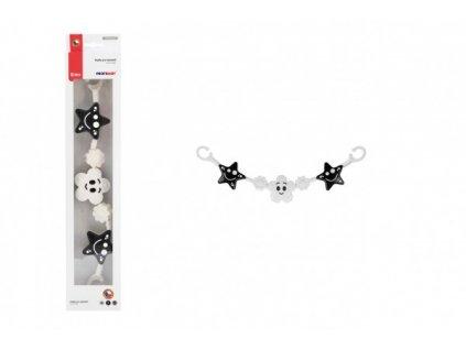Řetěz/zábrana hvězdičky/kytičky černobílé