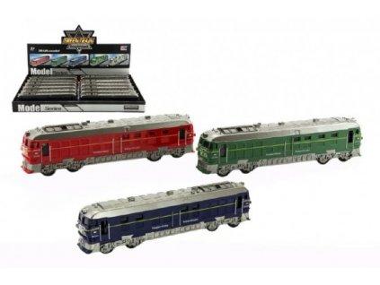 Vlak/Lokomotiva na setrvačník na baterie se zvukem se světlem  3 barvy
