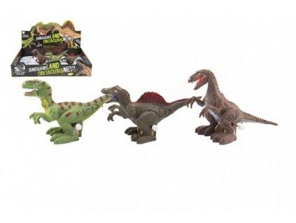 Dinosaurus natahovací jezdící na baterie se světlem mix druhů