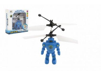 Robot/Vrtulník reagující na pohyb ruky s USB nabíjecím kabelem se světlem