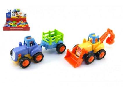 Traktor s vlekem/Buldozer pro nejmenší na setrvačník