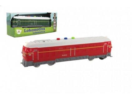 Lokomotiva/Vlak zelená na baterie se zvukem se světlem