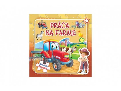 Puzzle kniha Práca na farme 6x9 dielikov SK verze