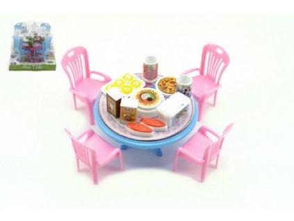 Stůl a židle s doplňky 3 barvy