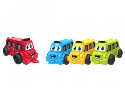 Autobus pro nejmenší na volný chod 3 barvy