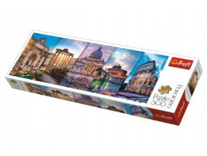 Puzzle Koláž památky Itálie panorama 500 dílků