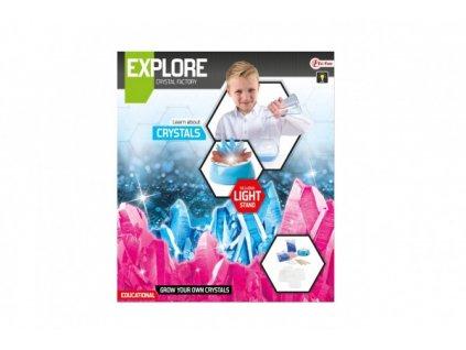Výroba krystalů vědecká hra se stojánkem na baterie