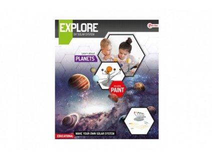Planety sluneční soustavy vědecká hra s barvami