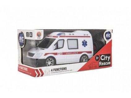 Auto RC ambulance na dálkové ovládání na baterie se světlem