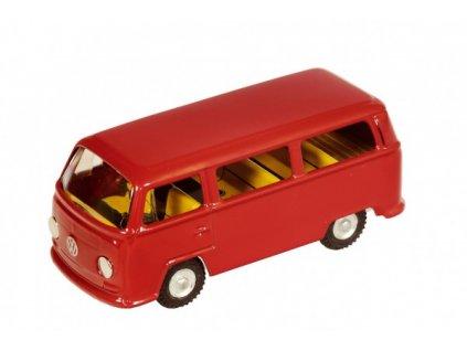 Auto VW mikrobus T2 červený