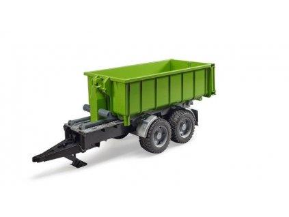 Zelený přívěs Bruder se sklápěcím kontejnerem 02035 2