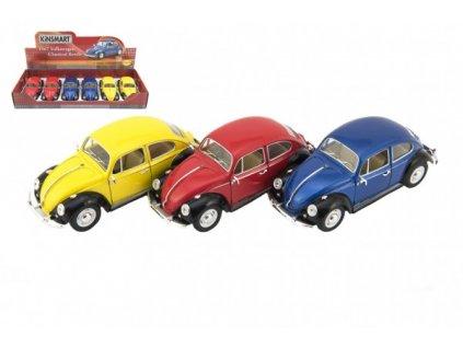 Auto Kinsmart VW Classical Beetle olný chod 3 barvy