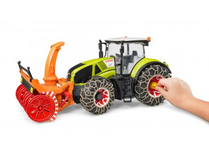 Traktor Claas Bruder 03017 se sněžnou frézou 6