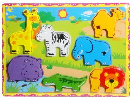 Dřevěné puzzle vládačka Safari