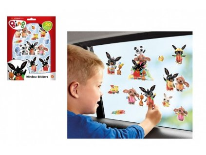 Okenní dekorace Bing Bunny 50ks samolepek