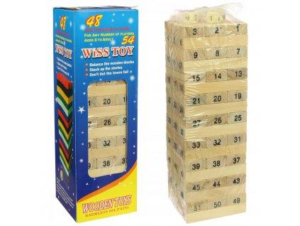 Hra skládací věž dřevěná