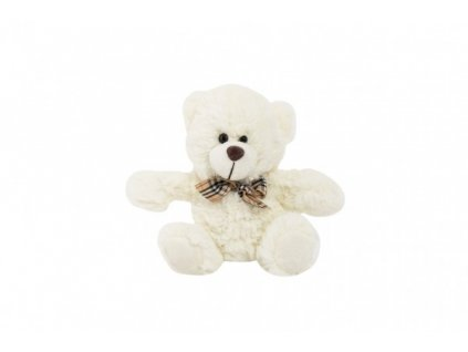 Plyšový medvěd sedící s mašlí
