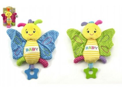 Motýl chrastítko 3 barvy