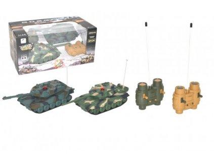 Tank RC 2ks tanková bitva+dobíjecí pack 27MHZ se zvukem se světlem