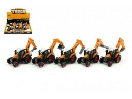 Traktor stavební mix druhů na zpětné natažení 6ks
