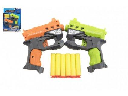 Pistole 2ks na pěnové náboje + 6ks