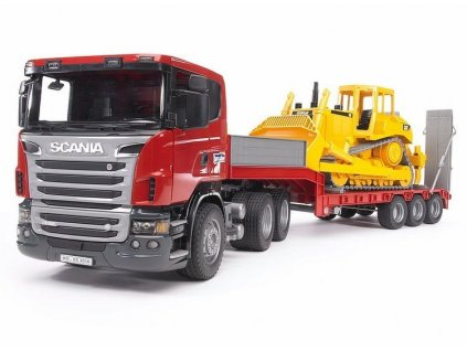 Scania s přívěsem Bruder 03555 + buldozer 02422