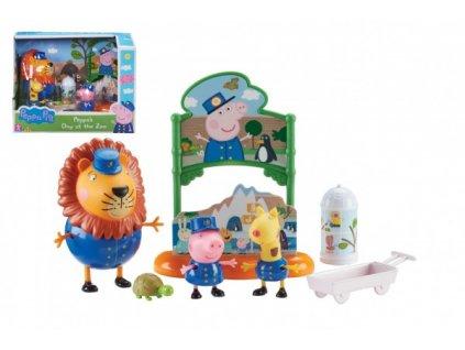 Prasátko Peppa/Peppa Pig v ZOO plast 3 figurky s doplňky