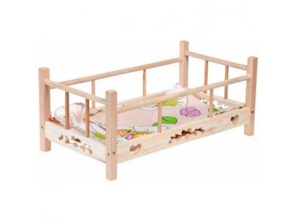 Dřevěná postýlka pro panenky Mamilas