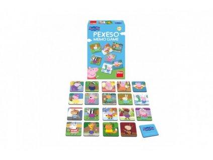 Pexeso 48 pevných kartiček Prasátko Peppa/Peppa Pig společenská hra