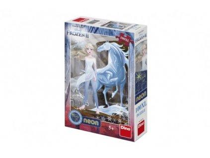 Puzzle Ledové království II/Frozen II svítící ve tmě 100 dílků