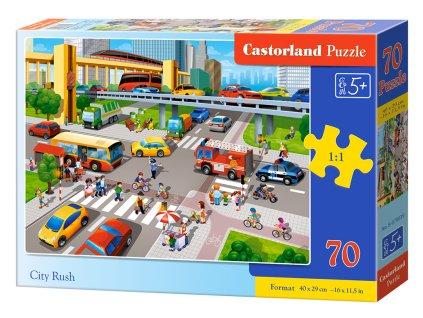 Puzzle Městský provoz 70 dílků