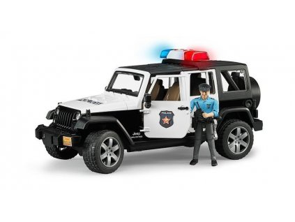 Jeep Wrangler Policie BRUDER 2526 s figurkou policisty
