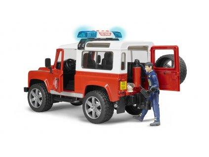Bruder 2596 Land Rover hasiči + figurka hasiče 7
