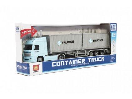 Kamion s kontejnery na setrvačník na baterie se světlem se zvukem