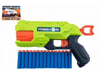 Pistole na pěnové náboje + 16 ks nábojů 2 barvy