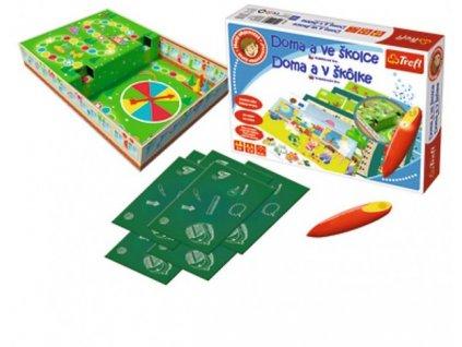 Malý objevitel Doma a ve školce + kouzelná tužka edukační společenská hra
