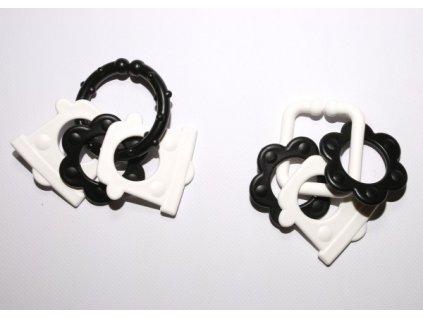 Řetěz/zábrana tvary černobílé 15ks