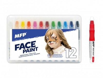 Barvy na obličej a tělo 12ks