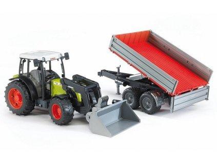 Traktor Claas Nectis 267F + čelní nakladač + sklápěcí přívěs 02112 BRUDER